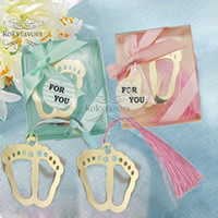 20PCS Baby Feet Bookmark with Tassel Baptism Favors Baby Sho...