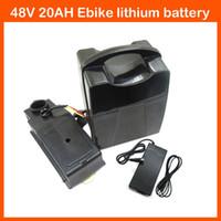 Wysokiej jakości 48 V 1000W bateria litowa 48V 20AH Elektryczny bateria rowerowa 48V Ebike bateria litowa z 30a BMS 54.6V 2A Ładowarka