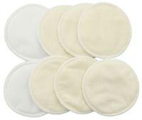 洗える有機介護パッド(8パック)|輪郭の再利用可能な乳房/母乳育児パッド