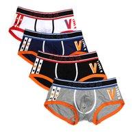 ORLVS 4Pcs Boxer Uomo Intimo ORLVS Cueca Boxer Cotton Mens Biancheria intima Boxer Estate Mutandine traspiranti Boxer Pene OR93
