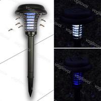 Moskito-Killer-Lampen Solar-Rasen-Lichter im Freien wasserdicht IP65 ABS UV White für Garten Villa DHL