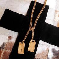 Var pullar moda marka tasarımcısı kolye kemerler bayan erkek 14 k altın zincirler Parti düğün severler hediye nişan lüks takı için gelin
