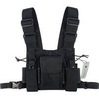 Mode Nylon Chest Rig Bag Schwarz Weste Hip Hop Streetwear Funktionelle Tactical Harness Chest Rig Kanye West Wist Pack Bag Hot