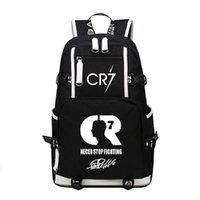 ميسي cr7 الرجال النساء قماش ظهره حقيبة كبيرة حقيبة سفر حقيبة الظهر رونالدو فتاة مدرسة عارضة للطلاب صبي irbfq