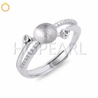 Pearl Ring Mounting designs for women 925 Sterling Silver Cu...