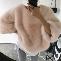 Dulce precioso suelta más la capa de la manera rosada de las señoras suéter de Corea del grueso de felpa de lana de las mujeres 2020 del invierno del otoño