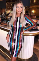 High Quality Celebrity Long Sleeve Striped Colorful Fashion ...