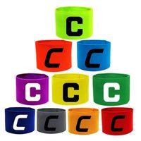 Capitán C calibración de brazalete para logotipo impreso brazalete personalizado fútbol C banda elástica pegatina mágica