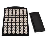 60ピーススナップボタンディスプレイのための最新のアクリルスナップスタンドスタンドディスプレイの取り外し可能セットスナップボタンジュエリー
