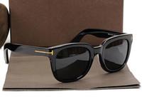 상자 9,638 도매 럭셔리 최고 qualtiy 새로운 패션 (211 개) 톰 선글라스 남성 여성 에리카 안경 포드 디자이너 브랜드 태양 안경