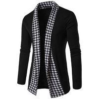 Knit кардигана Mens конструктора пальто Сыпучие V шеи с длинными рукавами свитер моды Мужская Верхняя одежда