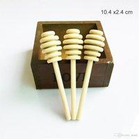 Salle à manger en bois 10.4cm Honey Honey Bâton Parti Dipper d'approvisionnement en bois cuillère bâton pour le miel Pot longue poignée de mélange bâton