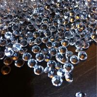 1000pcs 10mm klar akryl diamantkonfetti för bröllopsdekorationsbordspris