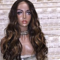 Peruvian Highlight Human Hair Lace Front Wigs with Silk Base...