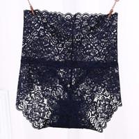 Hot Ladies Underwear Mulher calcinhas de cintura alta Transparente algodão respirável Lingerie Feminina Moda Lace Briefs bonito