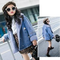 2019 Children Kids Girls Denim Jackets Cotton Denim Outerwea...