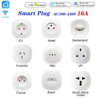 16A WiFi Smart Life Socket UK EU AU SWIT BR FR ISRAEL ITA ZA FLUT Coup de télécommande pour Alexa Google Assistant