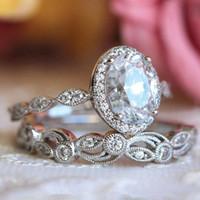 Anelli nuziali in oro rosa placcati in oro rosa per donne chic eleganti anelli di fidanzamento con zircone bianco moda gioielli di marca Anillos