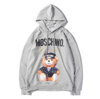 Mens Designer Hoodie Bear Pattern Print Sweatshirts Stylish ...