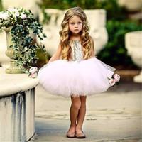 Ins Bebek Kız Prenses Elbiseleri Pullarda çiçek kız Tutu Elbise Çocuk Backless Bowknots Uzun Giyim için sıcak E22705 bling Parti Giyim Düğün etek
