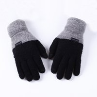 Mens Large Size Magic Touch Screen Cashmere Gloves For Mens ...