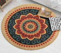 Round Carpets Ethnic Style For Living Room Computer Chair Ar...