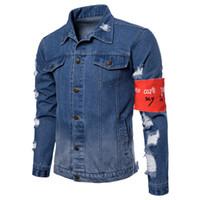 E-BAIHUI Mens Designer Giacche Moda Uomo Giacca di jeans Casual Hip Hop Designer Jacket Mens Abbigliamento Taglia M-3XL L191