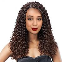 Curly Crochet Cabelo água ondulado Curly cabelo de 14 polegadas / 100 G / PC Crochet Freetresse Hair Extension Hairpieces sintéticos