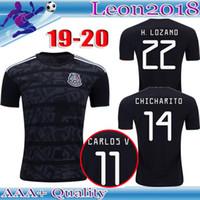 1aa564411 Pantalones cortos 2019 Mexico Soccer Jersey Home Away 19 20 negros camisetas  de fútbol de CHICHARITO