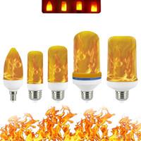 Volledige Model 3W 5W 7W 9W E27 E26 E14 E12 Vlam Lamp 85-265 V LED Vlam Effect Fire Gloeilampen Flikkerende Emulatie Decor LED-lamp
