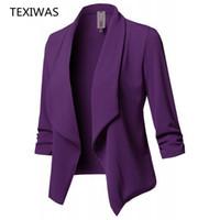 TEXIWAS Spring'in kimono ceket Biçimsel takım Blazer Kadınlar İş Takımları Blazers mont Çalışma Ofisi Lady Suit Blazer Hırka üstleri