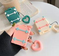 Nice cute auricolare Tronco titolare per Apple Airpods 1 2 Protector manica sacchetto della copertura per cialde Air auricolare Bluetooth caso di TPU