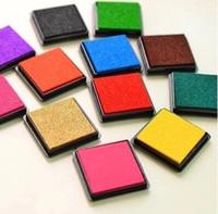 DHL Бесплатная доставка 500pcs 15 цветов ремесло чернила колодки/красочный мультфильм чернила площадку для различных видов марок