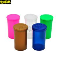 19 DRAM 빈 스퀴즈 팝 탑 병 마른 허브 상자 알약 상자 케이스 허브 컨테이너 밀폐 된 보관 케이스 흡연 액세서리 Stash Jar