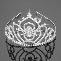 Nouveau Tiaras Couronnes avec strass bijoux de mariée filles soirée Prom Party Performance Pageant cristal Accessoires de mariage ZH-047
