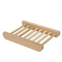 plats à base de savon de bois pour porte-savon salle de bain en bambou pour la douche Fraisure salle de bains Savon économiseur en bois