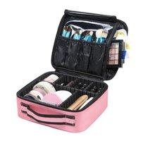 Nowy Makijaż Case Profesjonalne Pędzel kosmetyczny Kobiety Kosmetyczna Walizka Wodoodporna Makijaż Organizator Torby do Manicure