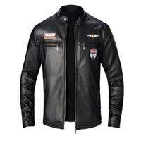 양털 재킷 남성 가을 겨울 새로운 스타일 슬림 가죽 자켓 패션 오토바이 코트 Chaqueta 험 브레 5 크기