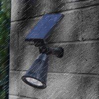 Outdoor Solar RGB Luz Lawn, Spotlight cores, exterior, jardim, pátio 4 Segurança LED IP65 Waterproof