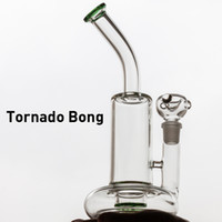 2020 Clear Green blue Glass Tornado Bongs Base Cyclone Perco...