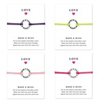 Love DANCE bracelets with Gift Card Girls Round Charm infini...