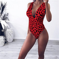 V Neck Designer Sexy Bikini Leopard Vestuário Moda Womens Clothes Womens Verão Swimsuit One Piece Swimwear