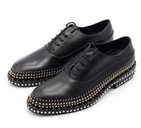 اليدوية الرجال أوكسفورد أحذية الرسمي الأعمال شقة المسامير السادة أحذية ذات جودة عالية