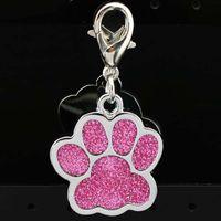 Accessori per colletto Pet Personalizzato Multi Colori 2.5 * 2.9 * 0.2cm Dog Tags Dog Laser Inciso Inciso Aluminium Dog Cat Cat Pet Decoration Tag DH0282 T03