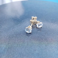 Birthstone 12 Cor 5mm Cubic Zirconia Atacado Real 14 K Gold Filled Jóias Brincos Artesanais Studs Para As Mulheres Sem Fading