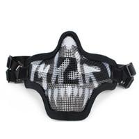 New Outdoor Tactical Santo Máscara malha Airsoft Emerson Paintball Meio Proteção Rosto greve Estilo Caça Acessórios