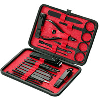 18pcs Pro маникюрный набор Когтерез Kit Педикюр Kit Утилита педикюра Ножницы Пинцет нож уха Pick Nails Art Tools С Case