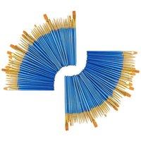 مجموعات الهدايا 100 قطعة فرشاة الطلاء مجموعة فرش المهنية الفنان للملحة الاكريليك النفط المائية (10 حزمة 100pcs)