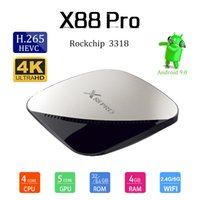 2019 Hot Selling X88 PRO Android 9. 0 TV Box 2. 4G 5G WiFi IPT...