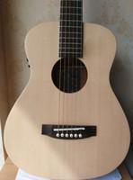 36 Zoll Reisen akustische E-Gitarre, Fichte solide Oberseite, Palisander Griffbrett